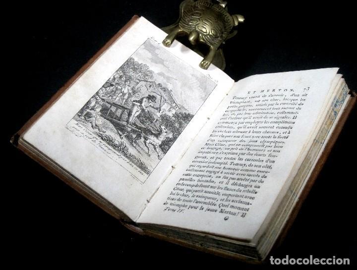 Libros antiguos: Año 1802 Leónidas Rey de Esparta Filosofía Crítica Social Sandford et Merton Grabados Rousseau - Foto 11 - 122832603