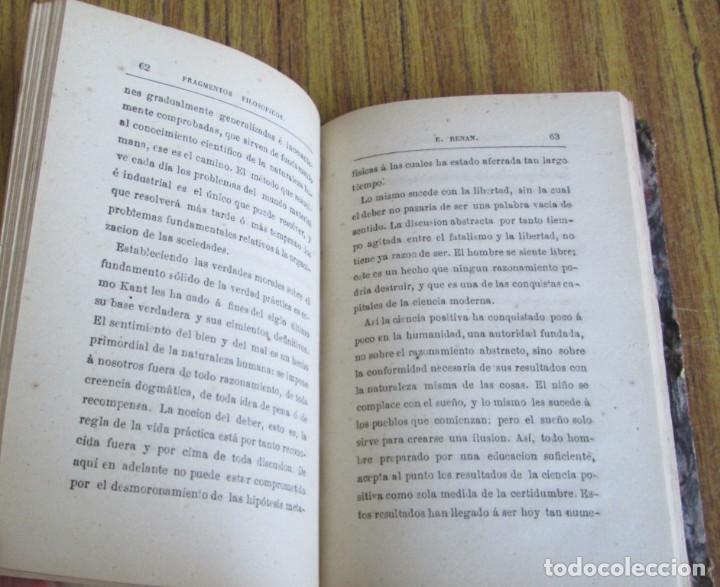Libros antiguos: FRAGMENTOS FILOSÓFICOS - Por Ernesto Renan - Versión castellana de Chaves y Orgás - Madrid 1877 - Foto 3 - 122928839