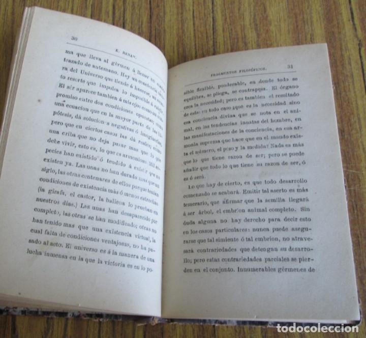 Libros antiguos: FRAGMENTOS FILOSÓFICOS - Por Ernesto Renan - Versión castellana de Chaves y Orgás - Madrid 1877 - Foto 4 - 122928839