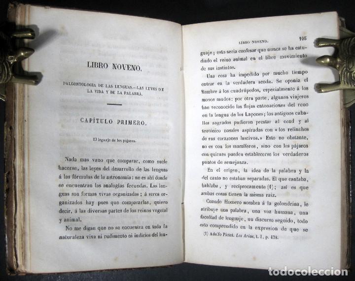Libros antiguos: Año 1871 Antropología Filosofía Historia de la Humanidad Prehistoria Filología Quinet la Creación - Foto 5 - 123552843