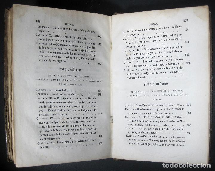 Libros antiguos: Año 1871 Antropología Filosofía Historia de la Humanidad Prehistoria Filología Quinet la Creación - Foto 7 - 123552843