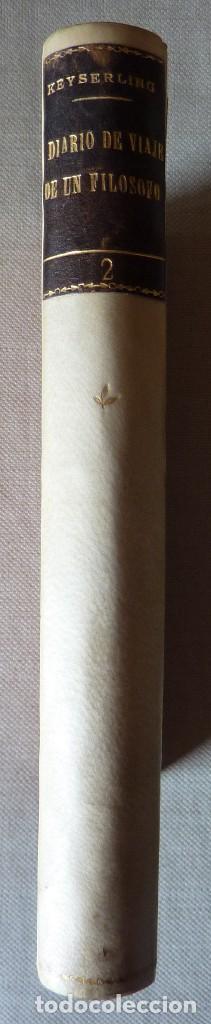 CONDE DE KEYSERLING. DIARIO DE VIAJE DE UN FILÓSOFO. TOMO II. (Libros Antiguos, Raros y Curiosos - Pensamiento - Filosofía)