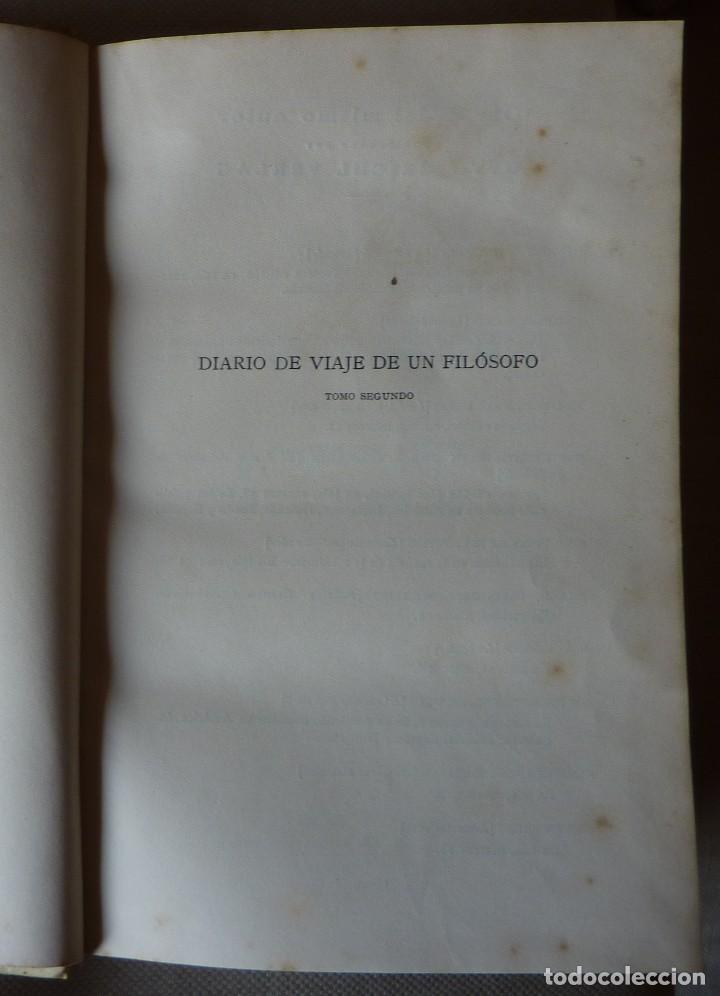 Libros antiguos: CONDE DE KEYSERLING. DIARIO DE VIAJE DE UN FILÓSOFO. TOMO II. - Foto 2 - 123580079