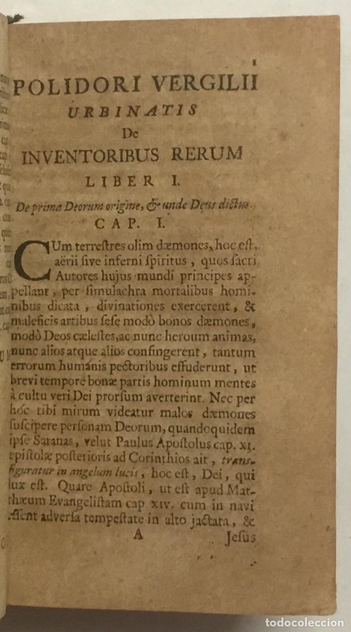 Libros antiguos: URBINATIS DE RERUM INVENTORIBUS LIBRI OCTO; in quibus Omnium scientiarum, omnium; ferè rerum Princip - Foto 2 - 123257763