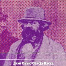Libros antiguos: J. D. GARCÍA BACCA   HUMANISMO TEÓRICO, PRÁCTICO Y POSITIVO SEGÚN MARX (1974). Lote 125196587