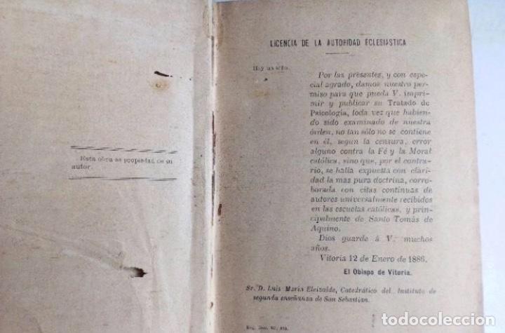 Libros antiguos: ELEMENTOS DE PSICOLOGÍA, LÓGICA Y ÉTICA. LUIS ELEIZALDE E IZAGUIRRE. 2 LIBRO EN 1 TOMO. MADRID 1886 - Foto 6 - 251044400