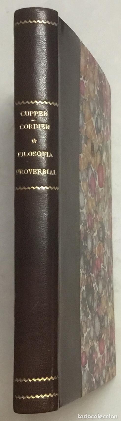 FILOSOFIA PROVERBIAL. - CUPPER, MARTIN F. HABANA, 1865. (Libros Antiguos, Raros y Curiosos - Pensamiento - Filosofía)