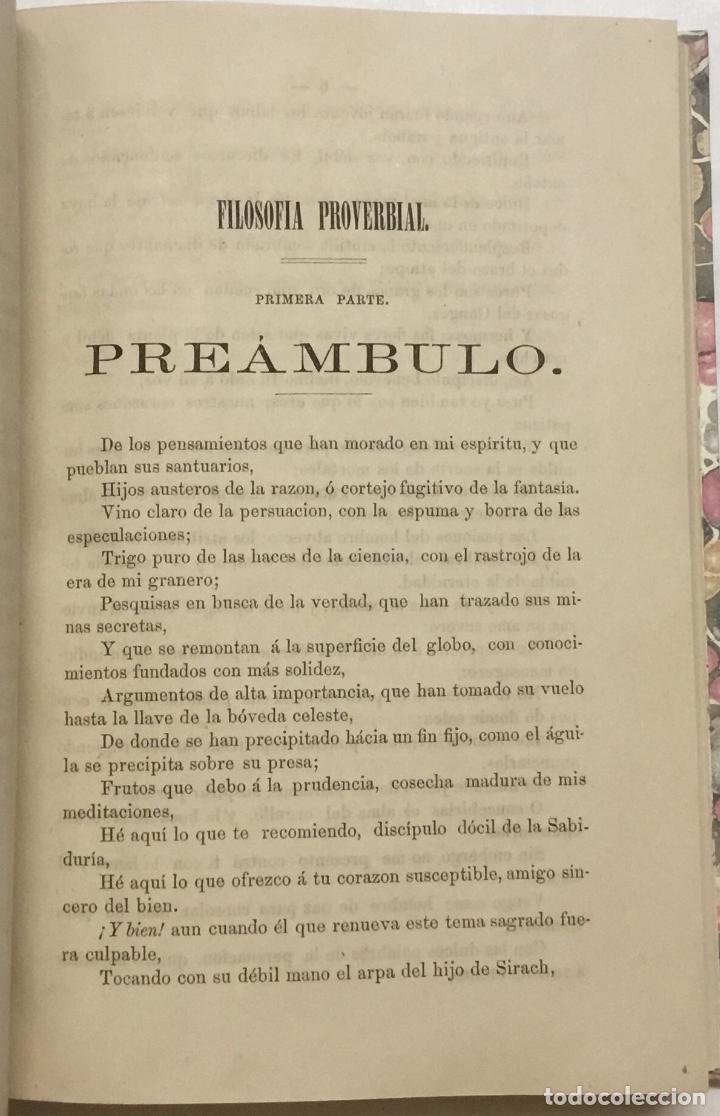 Libros antiguos: FILOSOFIA PROVERBIAL. - CUPPER, Martin F. HABANA, 1865. - Foto 3 - 123179780