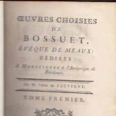 Libros antiguos: BOSSUET: OEUVRES CHOISIES. NISMES, 1784. 8 VOLÚMENES. OBRA COMPLETA.. Lote 128325931