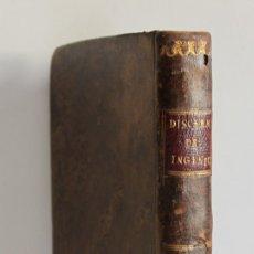 Libros antiguos: DISCERNIMIENTO FILOSÓFICO DE INGENIOS PARA ARTES, Y CIENCIAS. - MADRID, 1795.. Lote 123238790