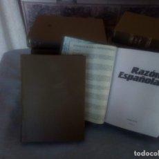 Libros antiguos: 12 TOMOS DE LA REVISTA LA RAZÓN ESPAÑOLA ENCUADERNADOS TODOS O SUELTOS A 7 UNUDAD. Lote 130598370