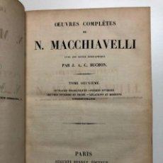 Libros antiguos: NICOLÁS MAQUIAVELO. OBRAS COMPLETAS. 1837. Lote 131915294