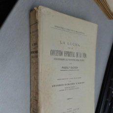 Libros antiguos: LA LUCHA POR UN CONTENIDO ESPIRITUAL DE LA VIDA... / RUDOLF EUCKEN / DANIEL JORRO ED. MADRID 1925. Lote 131974750