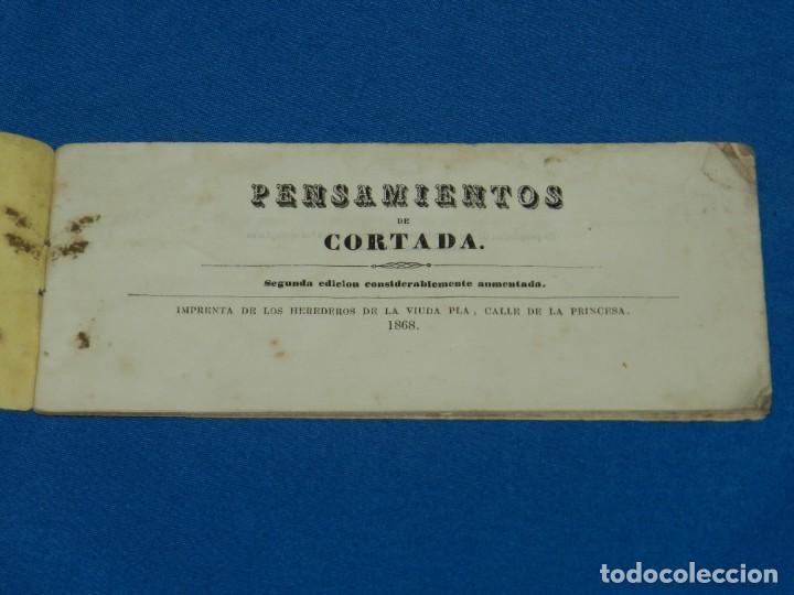 (MF) PENSAMIENTOS DE CORTADA , 2 EDC AUMENTADA , IMP. HEREDEROS DE VIUDA PLA 1868 (Libros Antiguos, Raros y Curiosos - Pensamiento - Filosofía)