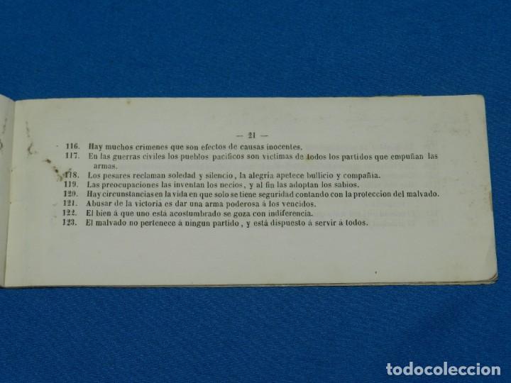 Libros antiguos: (MF) PENSAMIENTOS DE CORTADA , 2 EDC AUMENTADA , IMP. HEREDEROS DE VIUDA PLA 1868 - Foto 3 - 132492414