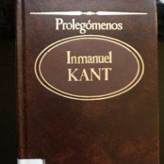 Libros antiguos: PROLEGOMENOS INMANUEL KANT. Lote 134149954
