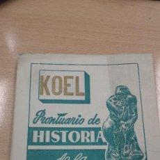 Libros antiguos: MINI LIBRO KOEL. HISTORIA DE LA FILOSOFIA. 1953. Lote 135878122