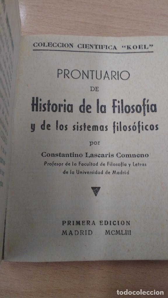 Libros antiguos: MINI LIBRO KOEL. HISTORIA DE LA FILOSOFIA. 1953 - Foto 2 - 135878122