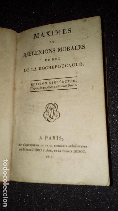 Libros antiguos: Máximas y Reflexiones morales. La Rochefoucauld, pensador francés. - Foto 2 - 136049370