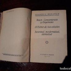 Libros antiguos: AMOR, CONVENIENCIA Y EUGENESIA (GREGORIO MARAÑON) HISTORIA NUEVA, 1929. Lote 136230114