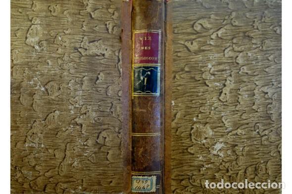 DIOGENES LAERCIO. Les Vies des plus illustres Philosophes de l'Antiquité... Tome I (sur 2). 1796. segunda mano