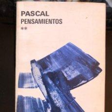 Libros antiguos: PASCAL PENSAMIENTOS EDITORIAL AGUILAR. Lote 137140534