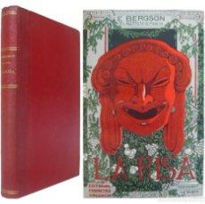 Libros antiguos: 1915 - ENRIQUE BERGSON: LA RISA. ENSAYO SOBRE LA SIGNIFICACIÓN DE LO CÓMICO - VALENCIA, PROMETEO. Lote 137562314