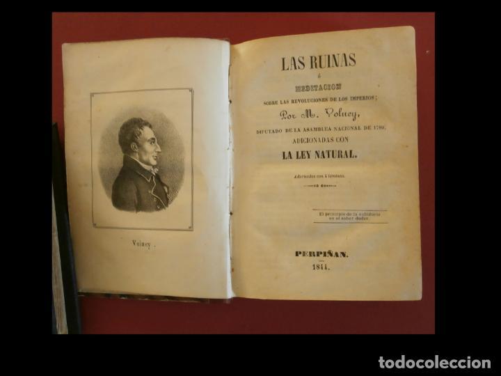 LAS RUINAS Ó MEDITACIÓN SOBRE LAS REVOLUCIONES DE LOS IMPERIOS. M. VOLNEY (Libros Antiguos, Raros y Curiosos - Pensamiento - Filosofía)