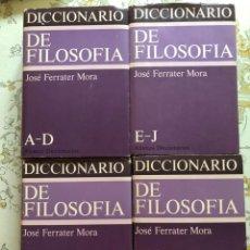 Libros antiguos: DICCIONARIO DE FILOSOFÍA 4 VOLS. FERRATER MORA COMPLETO ALIANZA EDITORIAL. Lote 138196214