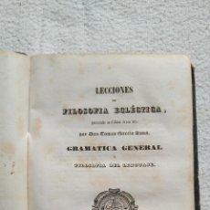 Libros antiguos: LECCIONES DE FILOSOFÍA ECLÉCTICA. Lote 138872006