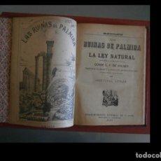 Libros antiguos: LAS RUINAS DE PALMIRA Y LA LEY NATURAL. CONDE C. F. VOLNEY. Lote 139290290