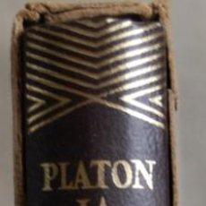 Libros antiguos: PLATÓN. LA REPÚBLICA. COL. JOYA. Lote 139980570