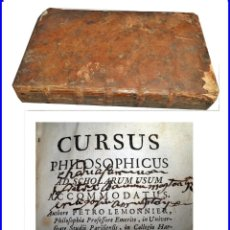 Libros antiguos: AÑO 1750. CURSUS PHILOSOPHICUS. METAPHYSICA, ARITHMETICAE LIBRO DEL SIGLO XVIII.. Lote 140482418