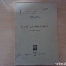 Libros antiguos: IL NEGOZIO FIDUCIARIO. RISTAMPA INALTERATA. 1971 - NICOLÒ LIPARI . Lote 142178882