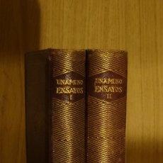 Libros antiguos: ENSAYOS - MIGUEL DE UNAMUNO (1942 PRIMERA EDICIÓN). Lote 142338722
