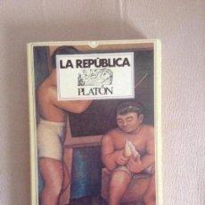 Libros antiguos: LA REPUBLICA PLATON. Lote 142401574