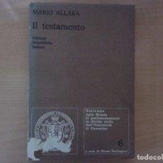 Libros antiguos: IL TESTAMENTO. VOLUME 6 (1936) - MARIO ALLARA. Lote 142586746
