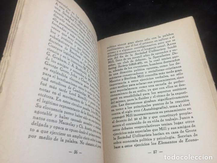 Libros antiguos: Stuart Mill por Samuel Saenger Revista de occidente 1930 coleccion los filosofos II - Foto 6 - 143578782