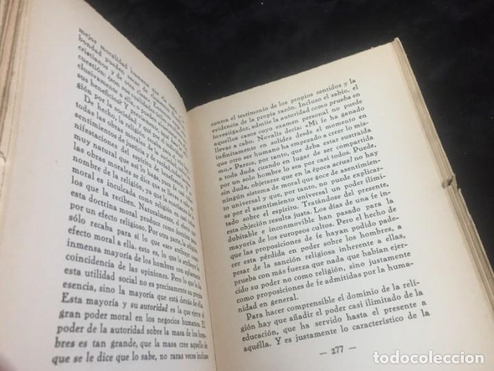 Libros antiguos: Stuart Mill por Samuel Saenger Revista de occidente 1930 coleccion los filosofos II - Foto 10 - 143578782