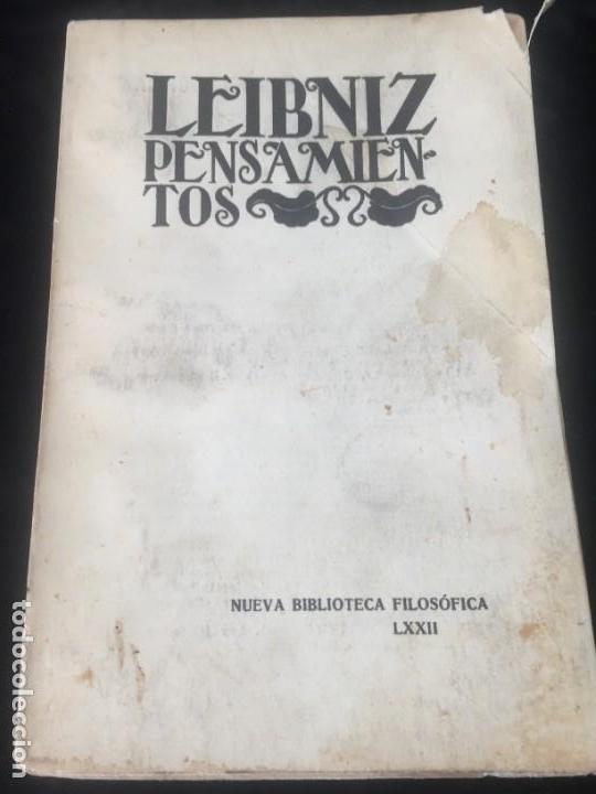 LEIBNIZ PENSAMIENTOS 1934 RÚSTICA ORIGINAL INTONSO NUEVA BIBLIOTECA FILOSÓFICA SIN DESBARBAR (Libros Antiguos, Raros y Curiosos - Pensamiento - Filosofía)