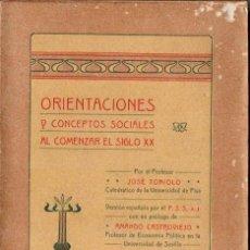 Libros antiguos: TONIOLO / CASTROVIEJO : ORIENTACIONES Y CONCEPTOS SOCIALES AL COMENZAR EL SIGLO XX (VALENCIA, 1907) . Lote 144979190