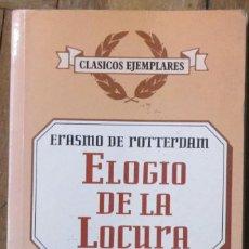 Libros antiguos: ERASMO DE ROTTERDAM. ELOGIO DE LA LOCURA. LIBROS RIO NUEVO. 1ª EDICIÓN, 1997. TAPA BLANDA. BOLSILLO.. Lote 144993778