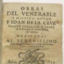 Libros antiguos: OBRAS DEL VENERABLE Y MISTICO DOTOR F. ... PRIMER DESCALÇO Y PADRE DE LA REFORMA DE NTRA SRA... 1635. Lote 145044506