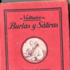 Libros antiguos: VOLTAIRE : BURLAS Y SÁTIRAS (A. ROCH, C. 1920). Lote 146142048