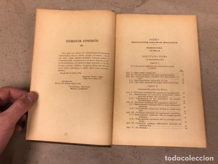 Libros antiguos: COMPENDIUM PHILOSOPHIÆ SCHOLASTICÆ. JOANNE JOSEPHO URRÁBURU. VOLUMEN V, THEODICEA. EDITADO 1904. - Foto 4 - 146267818