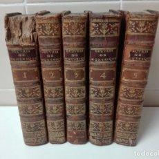 Libros antiguos: OBRAS COMPLETAS DE MONTESQUIEU AÑO 1777 OBRA COMPLETA. Lote 151318140