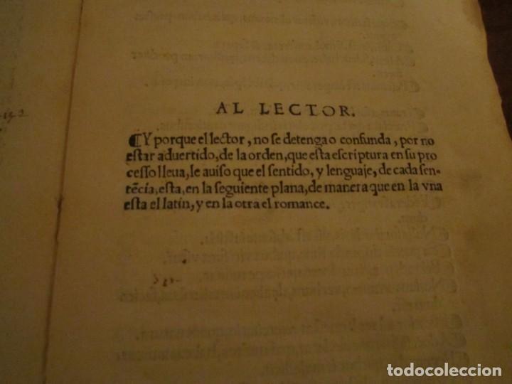 Libros antiguos: Post incunable Primera parte de las sentencias por diversos autores escriptas 1554 - Joya colección - Foto 2 - 146688410