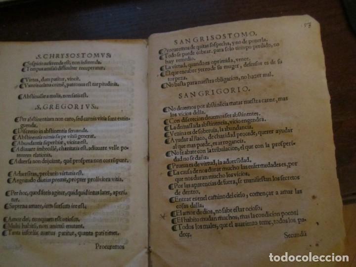 Libros antiguos: Post incunable Primera parte de las sentencias por diversos autores escriptas 1554 - Joya colección - Foto 7 - 146688410
