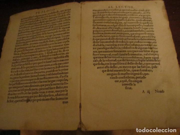 Libros antiguos: Post incunable Primera parte de las sentencias por diversos autores escriptas 1554 - Joya colección - Foto 8 - 146688410