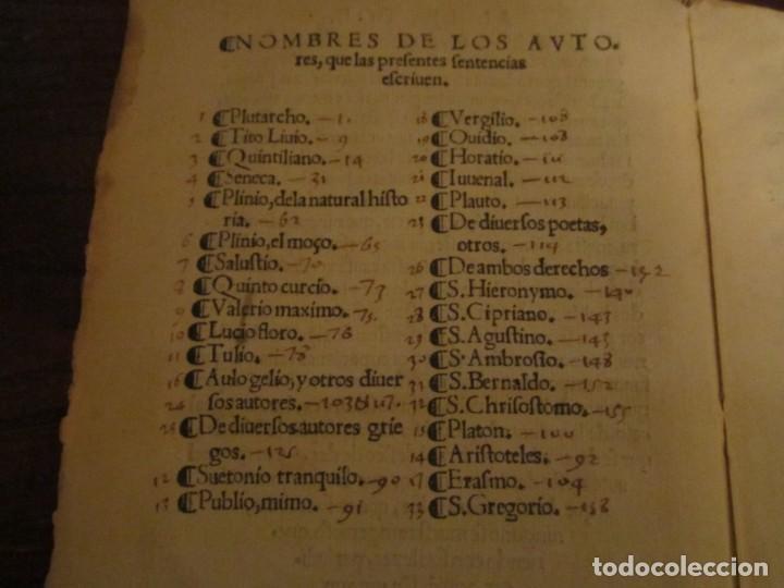 Libros antiguos: Post incunable Primera parte de las sentencias por diversos autores escriptas 1554 - Joya colección - Foto 10 - 146688410